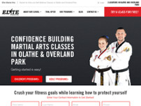 Elite Martial Arts website screenshot