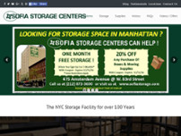 Sofia Storage Centers website screenshot
