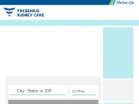 Fresenius Kidney Care Kendall website screenshot