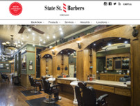 State Street Barbers website screenshot