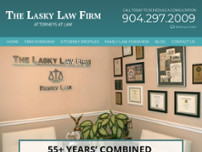 The Lasky Law Firm website screenshot