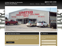 United Foreign & Domestic Auto & Truck Parts website screenshot