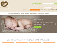 Red Rock Fertility Center website screenshot