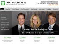Tate Law Offices, PC website screenshot