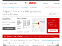 Staples® Print & Marketing Services website screenshot