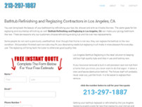 Los Angeles Bathtub Reglazing website screenshot