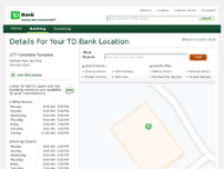 TD Bank website screenshot
