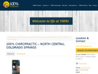100% Chiropractic - Woodmen website screenshot