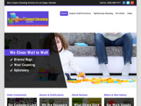 Las Vegas Carpet Cleaning Specialists website screenshot
