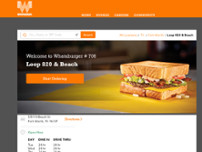 Whataburger website screenshot