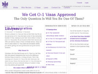 O-1 Visa Lawyer New York website screenshot