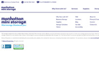 Manhattan Mini Storage website screenshot