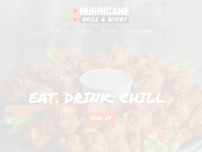 Hurricane Grill & Wings website screenshot
