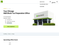 H&R Block website screenshot