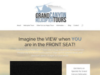 Grand Canyon Helicopter Tours website screenshot