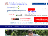 Portable Oxygen Concentrator Miami website screenshot