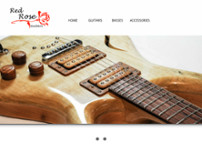 Red Rose Guitars website screenshot
