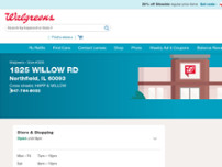 Walgreens website screenshot