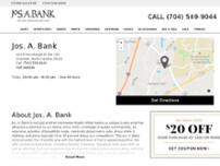 3af8214e5973 Jos. A. Bank. 410 E McCollough Dr 28262 Charlotte