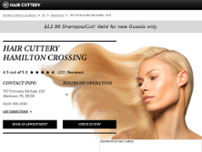 Hair Cuttery website screenshot