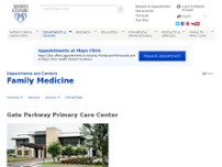 Mayo Clinic Primary Care website screenshot