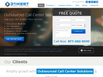 31West global services website screenshot
