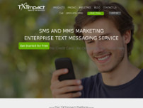 TXTImpact SMS Marketing Solutions website screenshot