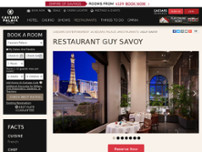 Restaurant Guy Savoy website screenshot