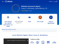 Corey A. Bromberg: Allstate Insurance website screenshot