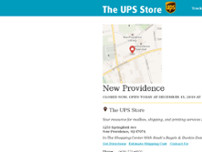 The UPS Store website screenshot