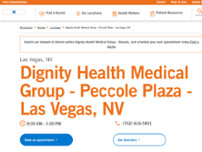 Dignity Health Medical Group - Peccole Plaza - Las Vegas, NV website screenshot