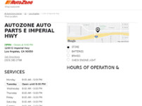 AutoZone Auto Parts website screenshot