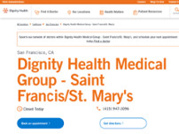 Dignity Health Medical Group - Saint Francis/St. Mary's website screenshot