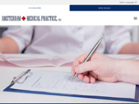 Amsterdam Medical Practice website screenshot