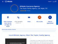 The Taylor Family Agency: Allstate Insurance website screenshot