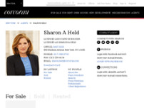 Sharon Held at the Corcoran Group website screenshot