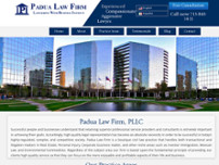 Padua Law Firm website screenshot