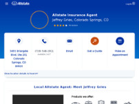 Jeffrey Gries: Allstate Insurance website screenshot