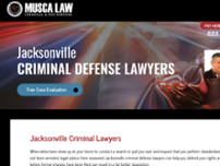 Musca Law website screenshot