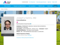 Joseph L. Kannry, MD website screenshot