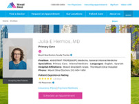Julia E. Hermos, MD website screenshot