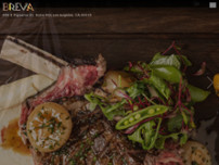 Breva Restaurant website screenshot