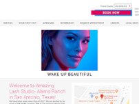 Amazing Lash Studio website screenshot