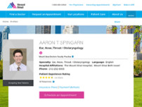 Aaron Spingarn, MD website screenshot
