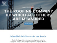Empire Roofing website screenshot