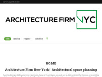 Architecture Firm NYC website screenshot