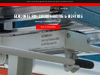 Gladiate Air Conditioning & Heating LLC website screenshot