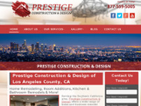 Prestige Design & Construction website screenshot