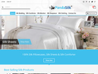 Panda Silk website screenshot
