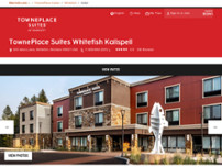 TownePlace Suites by Marriott Whitefish Kalispell website screenshot